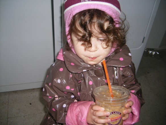 My 2 Year Old Enjoyed A Dunkin' Donuts Ice Coffee With Me Today