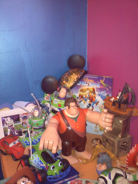 Boy Disney Toy Display